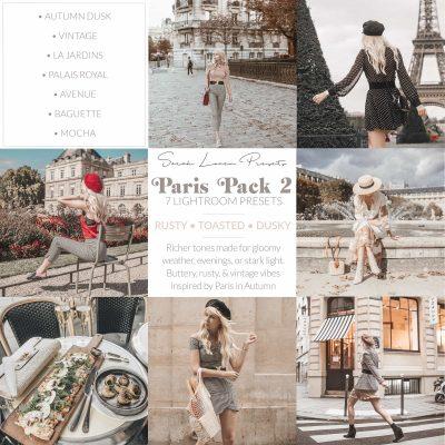 Sarah Lovens Paris Pack 2 for Adobe Lightroom.
